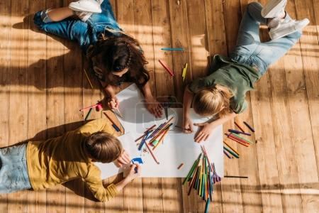 cute kids drawing