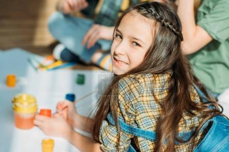 cute kids painting