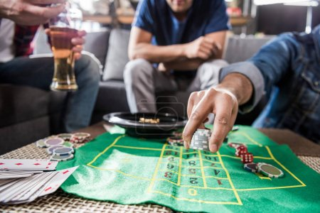 men playing roulette game