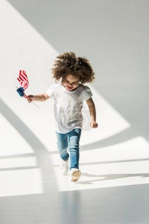 baby girl with american flag