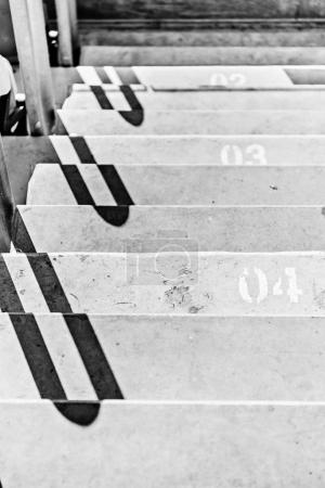 Stadium stairs with numeration