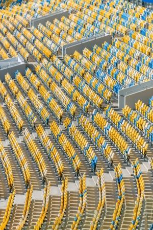 rows of stadium seats