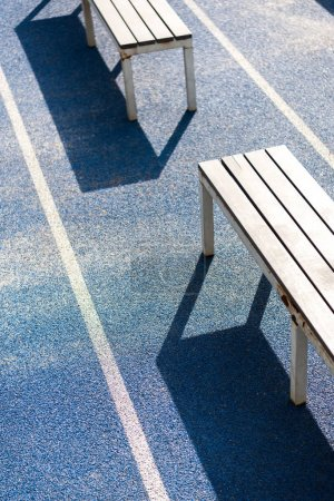 benches on running track