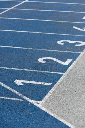 Numeration of running track