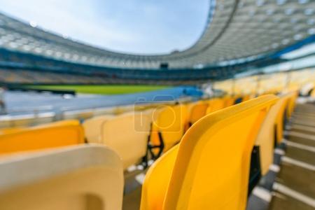 selective focus of stadium seats