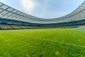 Panoramic view of soccer field