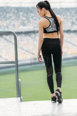 Sportswoman ready for training
