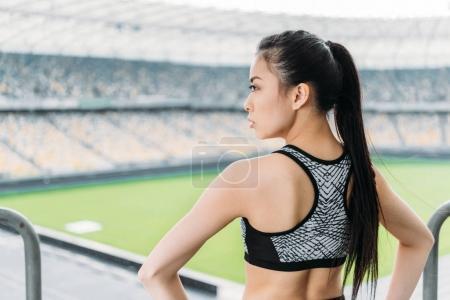 asian sportswoman in sportswear