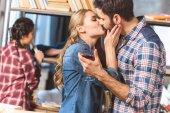 "Постер, картина, фотообои ""Любящая пара поцелуев"""