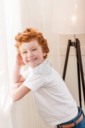redhead little boy
