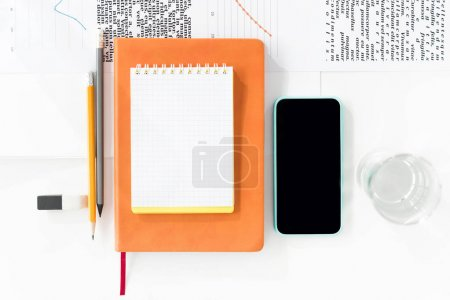 Smartphone and office supplies