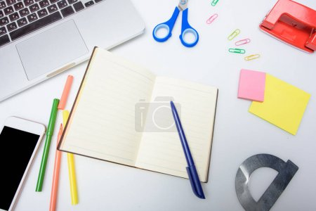 copybook and school supplies