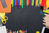 Colorful school and office supplies