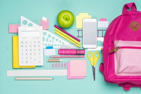 Various school supplies