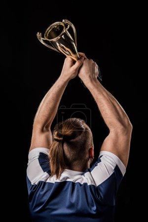 Sportsman holding trophy