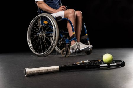 Tennis player in wheelchair