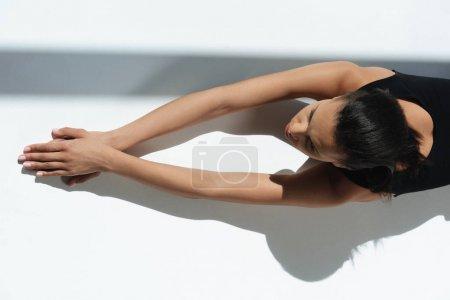 african american girl sunbathing