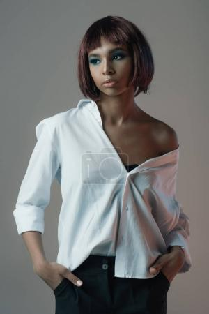 african american woman in shirt