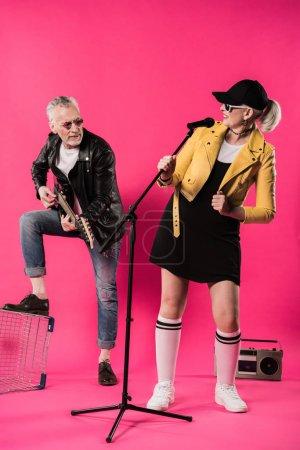 Senior couple of musicians