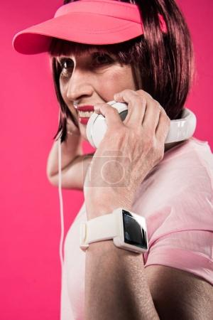 woman with smartwatch on wrist