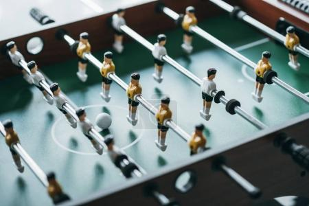 Foosball, close-up view