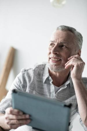 businessman working with tablet computer