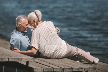 Senior couple at riverside