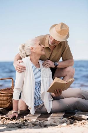Senior couple at picnic