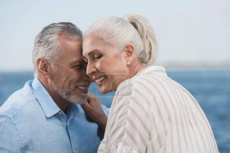 casual grey haired couple