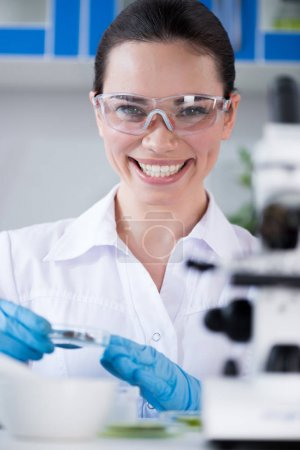 Female scientist at laboratory