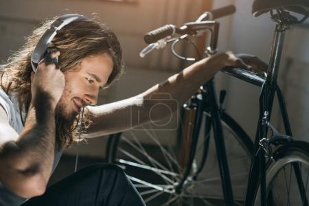 Young man in headphones
