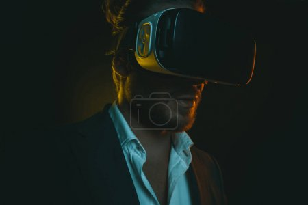 Photo for Portrait of young stylish man using virtual reality headset - Royalty Free Image