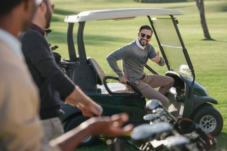 golfers on golf course