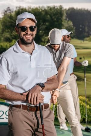 golfer looking at camera