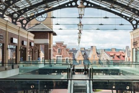 Empty modern shopping mall