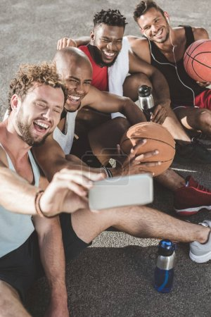 Selfie of basketball players