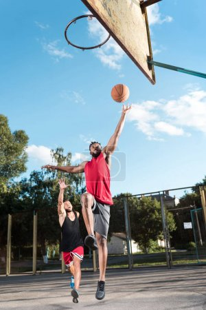 multicultural basketball players
