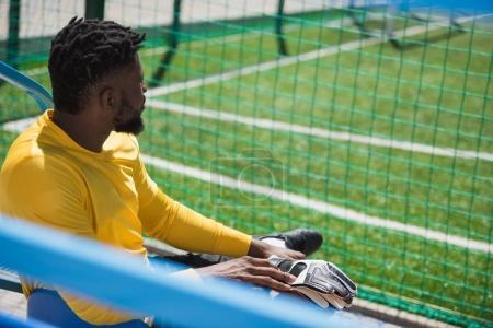 African american goalkeeper