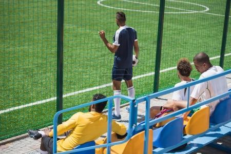 soccer team at stadium