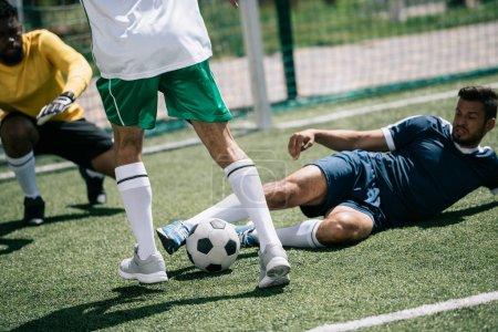Multiethnic soccer players
