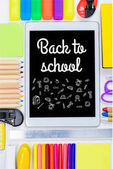 tablet with back to school lettering