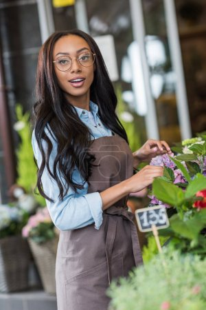 beautiful african american florist
