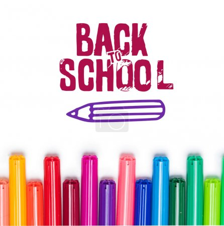 back to school lettering and markers