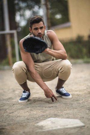 man ready to catch ball