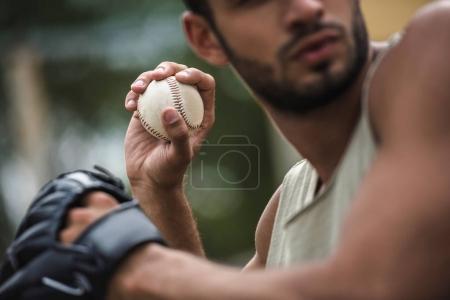 man throwing ball