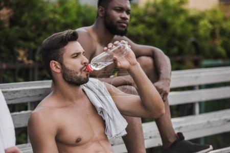 Two young men resting