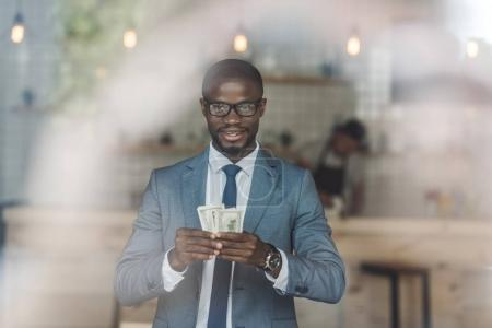 african american businessman with money