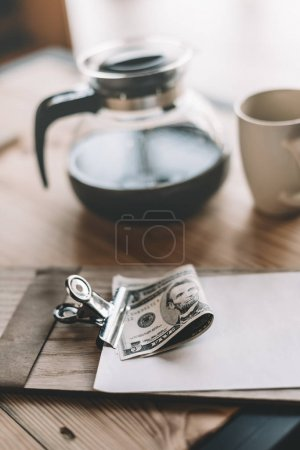 cash payment and coffee in cafe