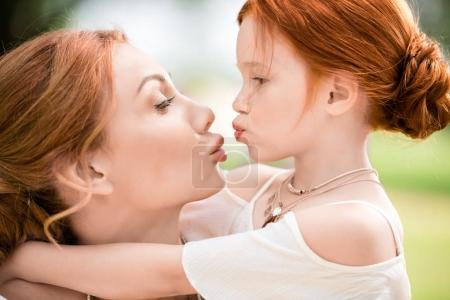 Mother and daughter able to kiss