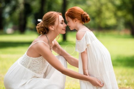 Beautiful happy mother and daughter